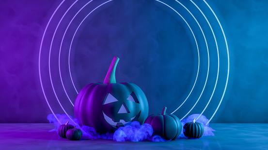 Halloween, Pumpkin, Jack O' Lantern, Smiley Face, Illuminated