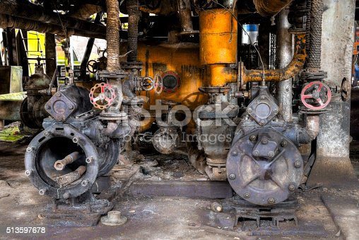 1132919452 istock photo Pumps and valves in conlonial style  factory 513597678