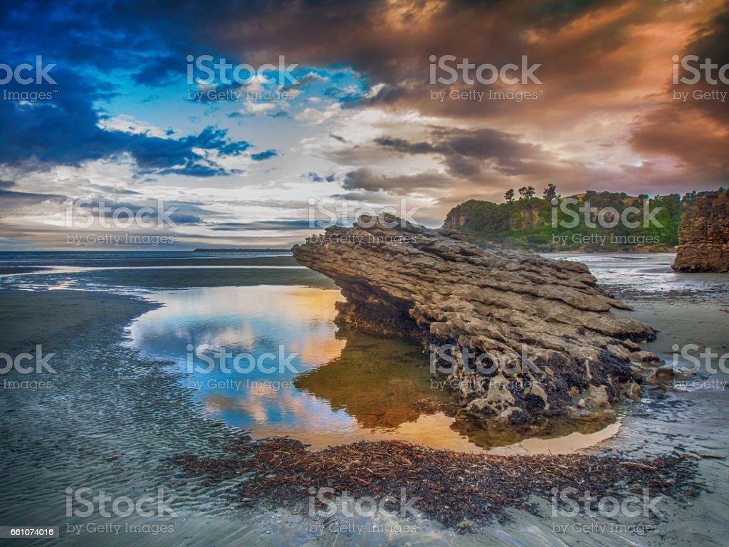 Punakaiki coastline stock photo