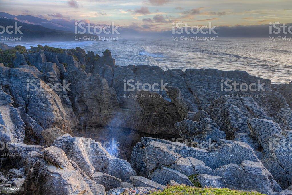 Punakaiki Pancake Rocks stock photo
