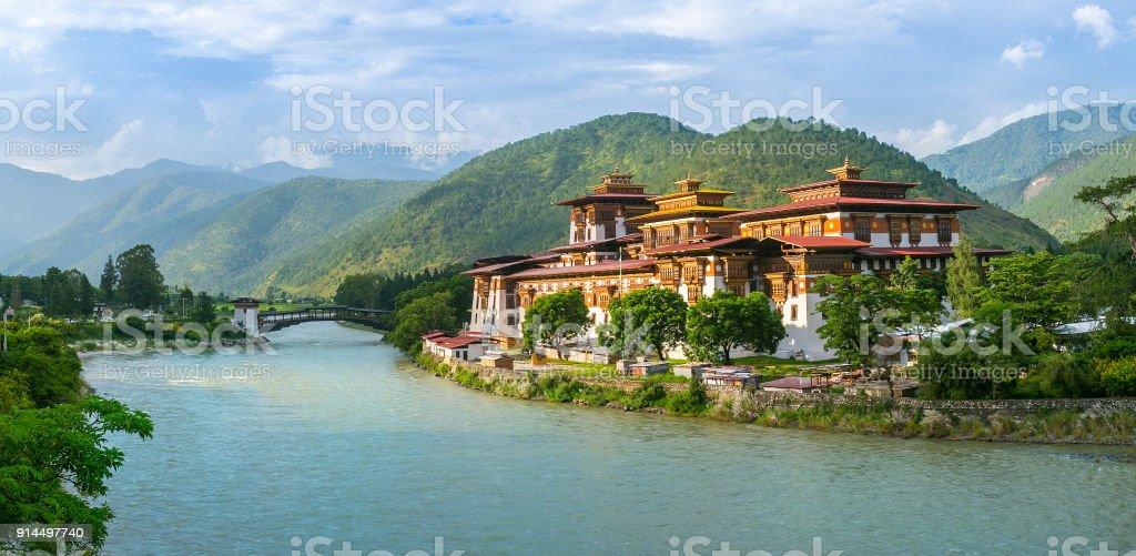 Punakha Dzong Monastery, Punakha, Bhutan stock photo
