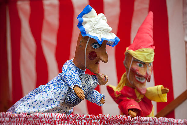 Punch and Judy Puppets stock photo