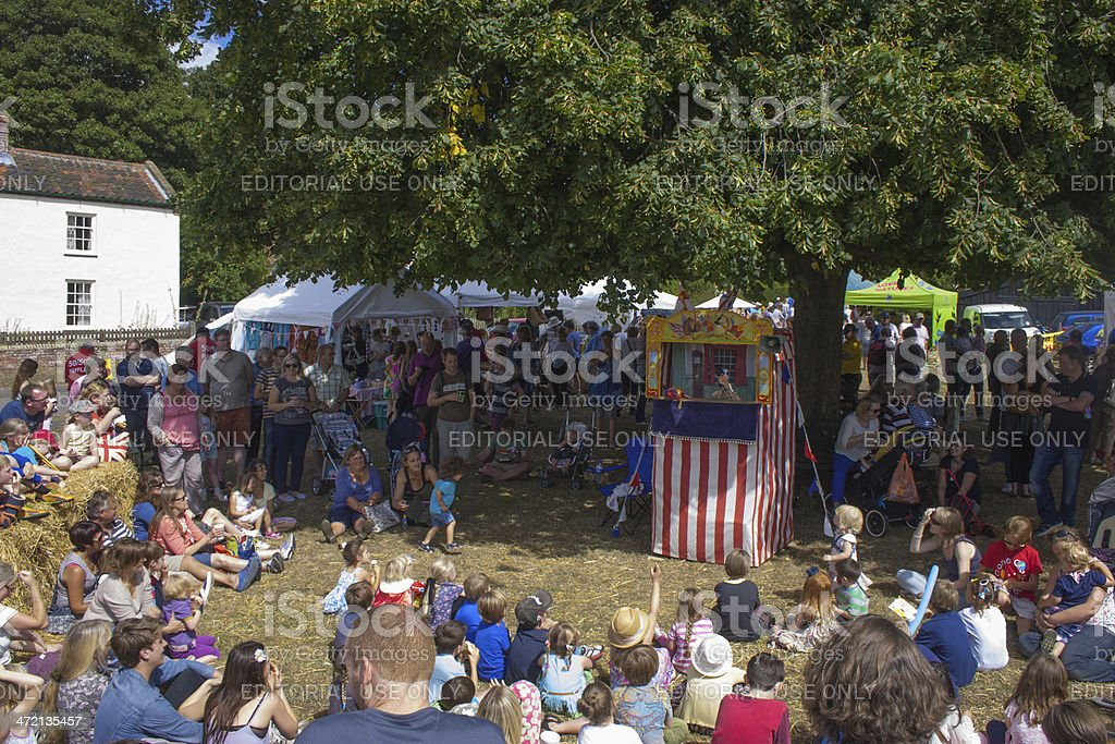 Punch and Judy show stock photo