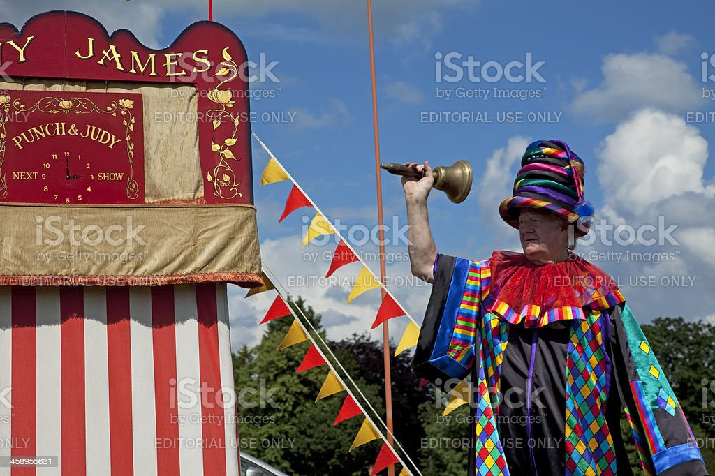 Punch and Judy showman stock photo