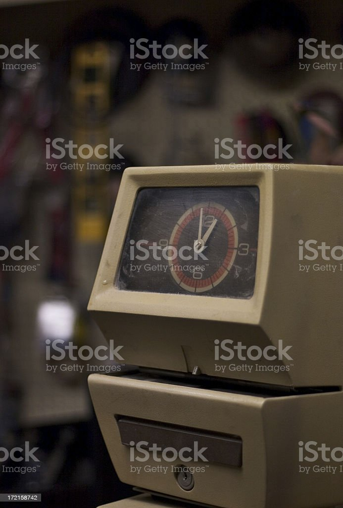 Punch clock Vertical stock photo