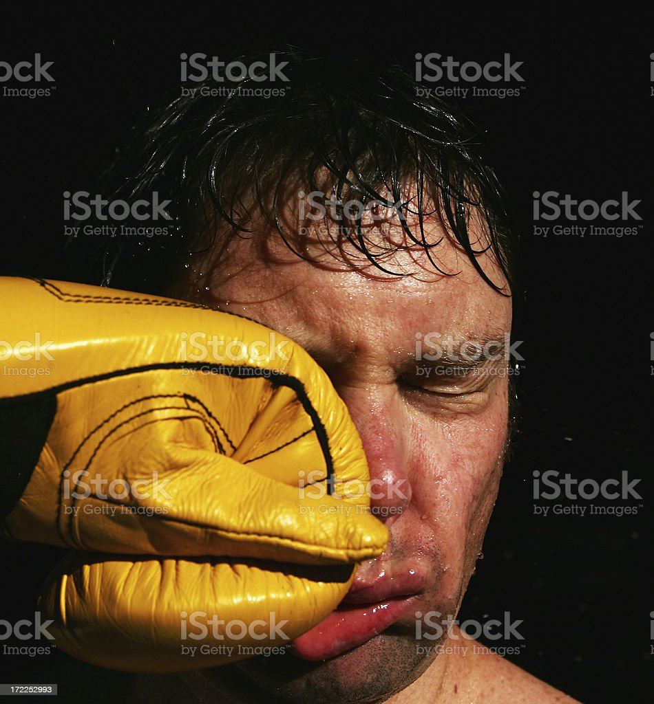Punch in the Face Impact stock photo