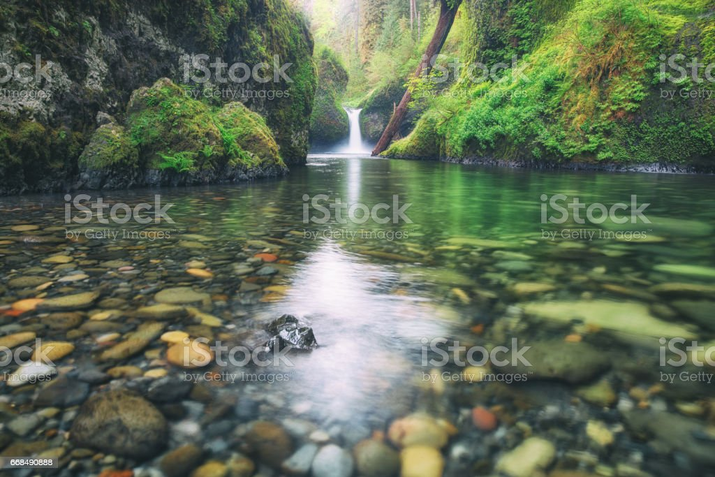 Punchbowl Falls, Oregon stock photo