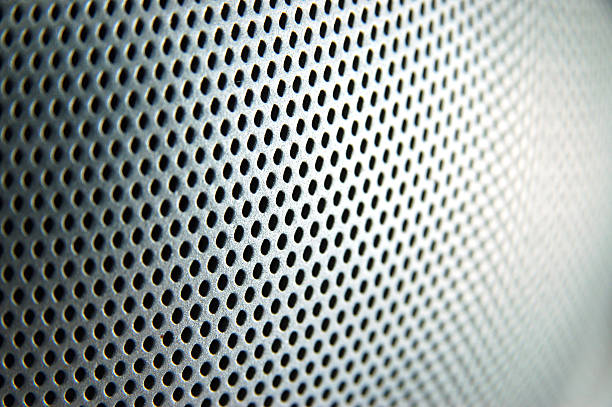 punched metal stock photo