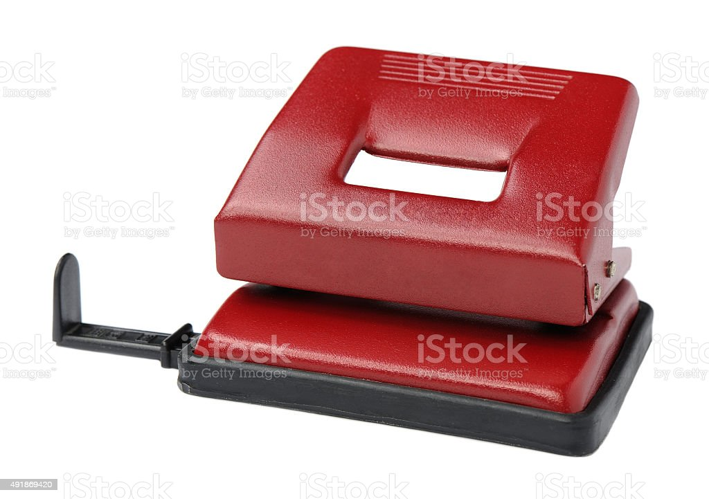 Puncher for papers on a white background stock photo