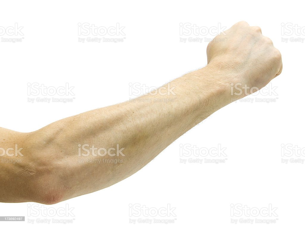 Punching Arm royalty-free stock photo