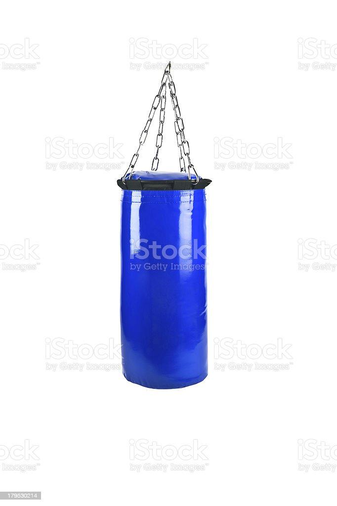 punching bag isolated royalty-free stock photo