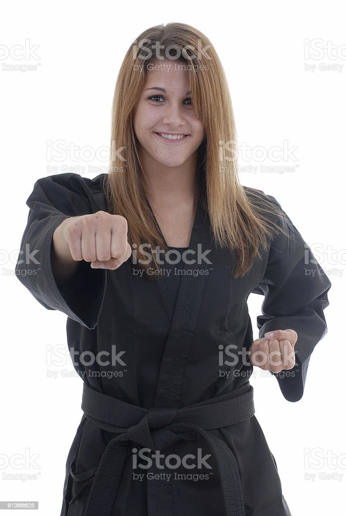 Punching exercise stock photo