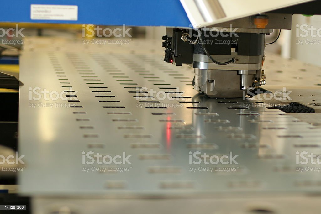 Punching machine stock photo