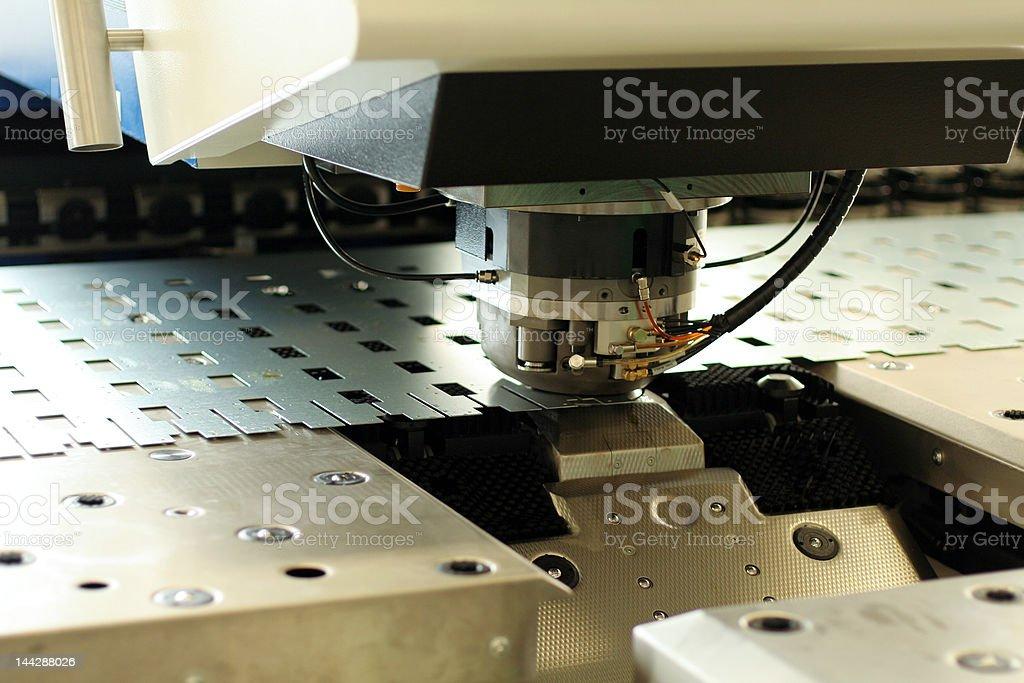 Punching machine stock photo