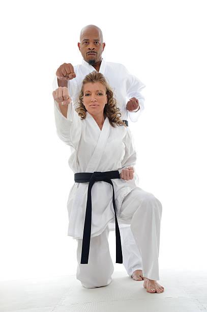 Punching pair stock photo
