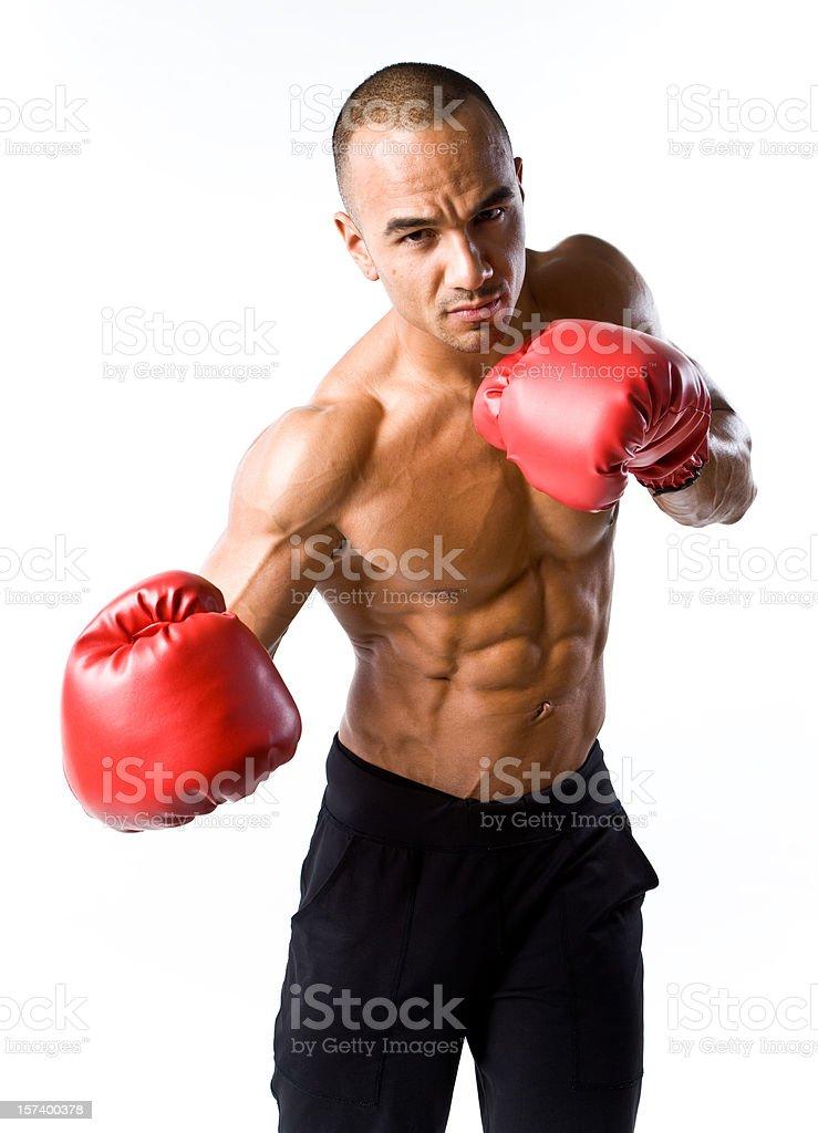 Punching royalty-free stock photo
