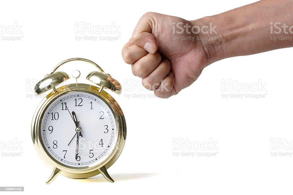 Punching the clock royalty-free stock photo