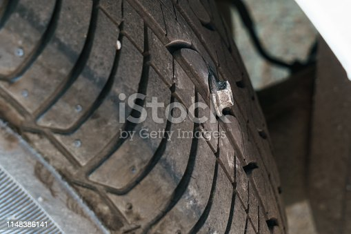 The problem with punctured tire by bolt
