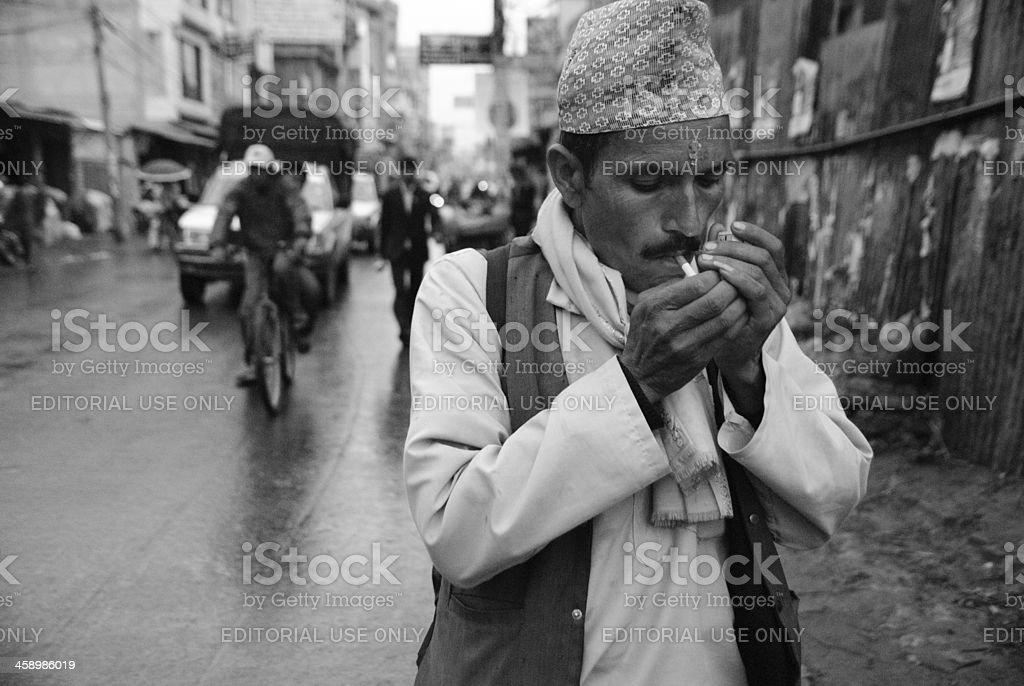 Pundit Smoking royalty-free stock photo