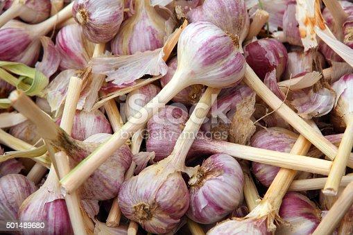 Garlic at a farmer's market