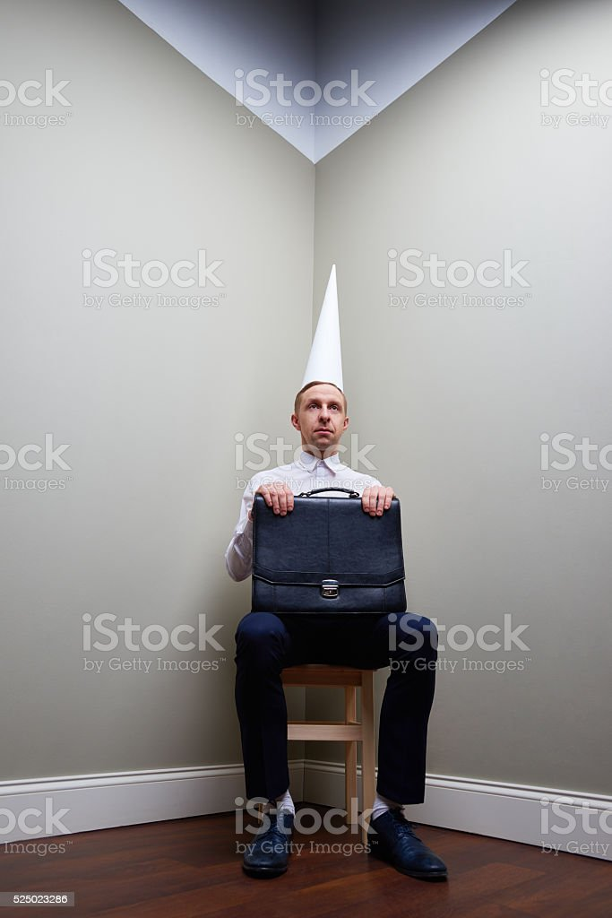 Punishment in business stock photo