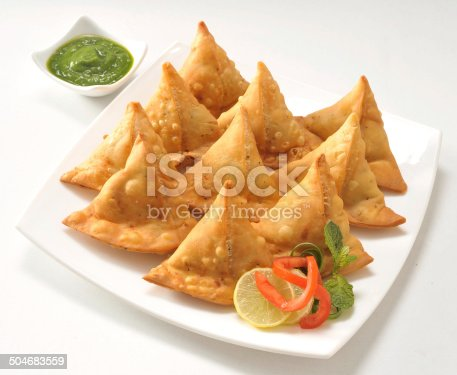 Punjabi Samosa With Chutney Stock Photo Amp More Pictures Of