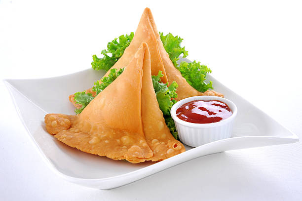 punjabi samosa-23 - samosa stock photos and pictures