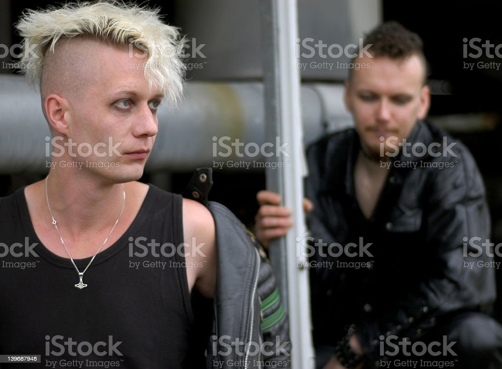 punk boys stock photo