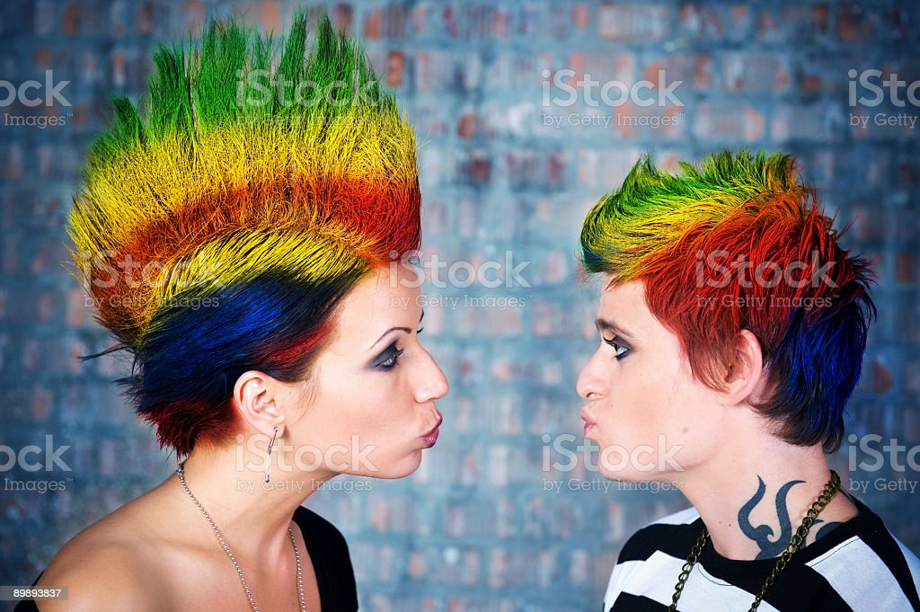 Punk couple royalty-free stock photo