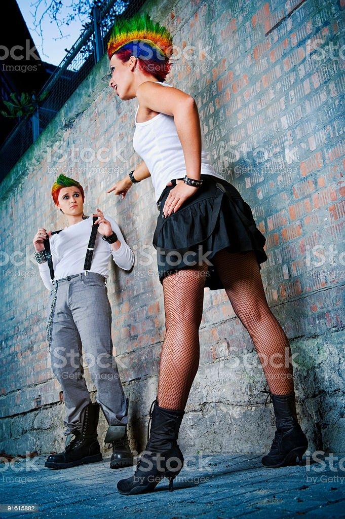 Punk couple royalty-free stock photo