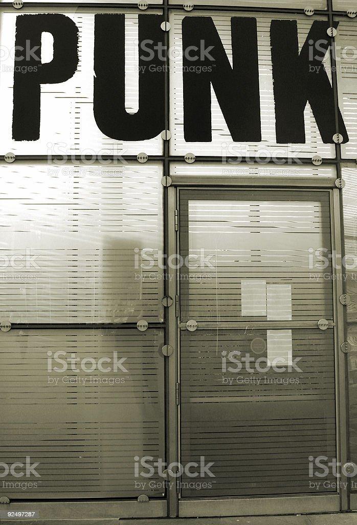 punk doorway royalty-free stock photo