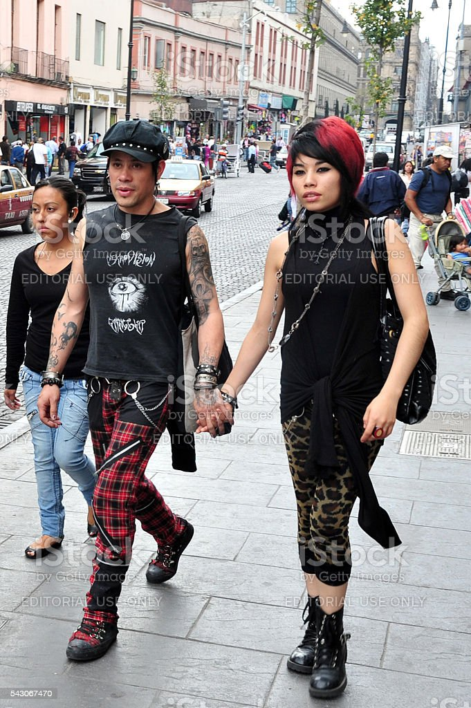 Punk fashion in Mexico City, Mexico stock photo