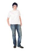 istock Punk Girl in White Tshirt 173888905