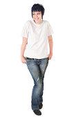 istock Punk Girl in White Tshirt 173894861