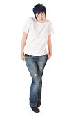 istock Punk Girl in White Tshirt 173924413