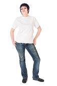 istock Punk Girl in White Tshirt 174702997