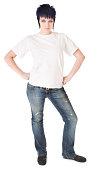 istock Punk Girl in White Tshirt 182726099