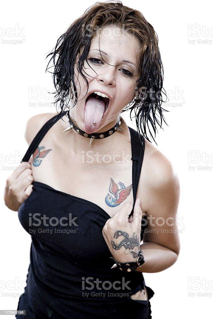 Punk girl royalty-free stock photo