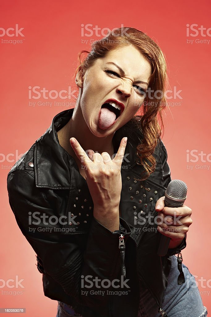 Punk girl stock photo