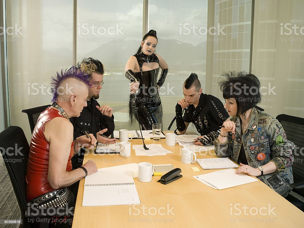 Punk Goth Alternative Business Team - The Assignment stock photo