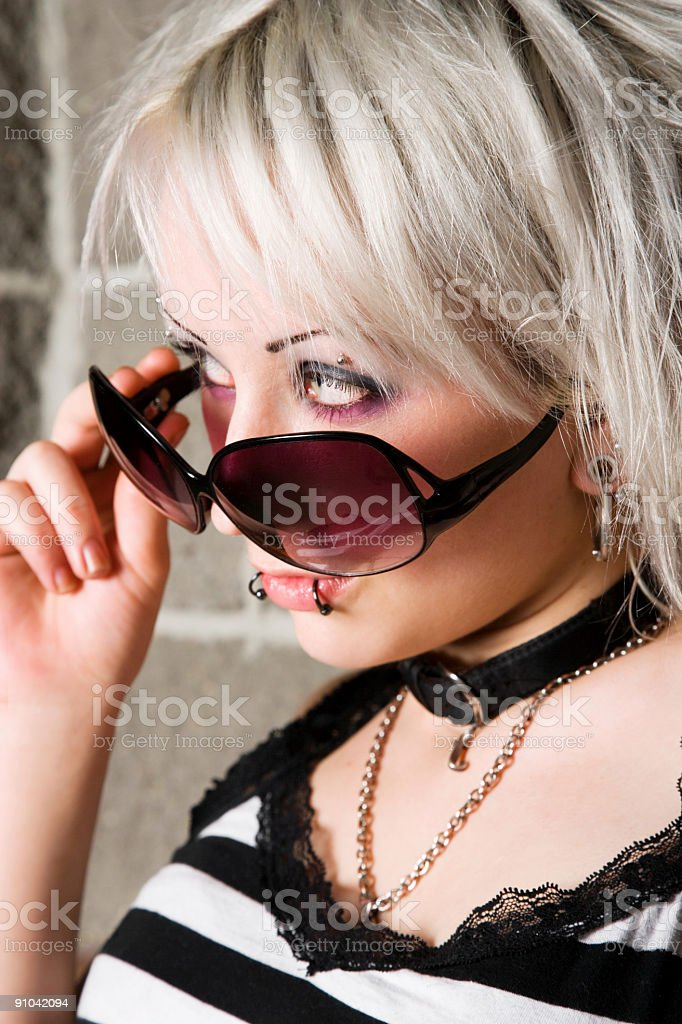 Punk Portrait royalty-free stock photo
