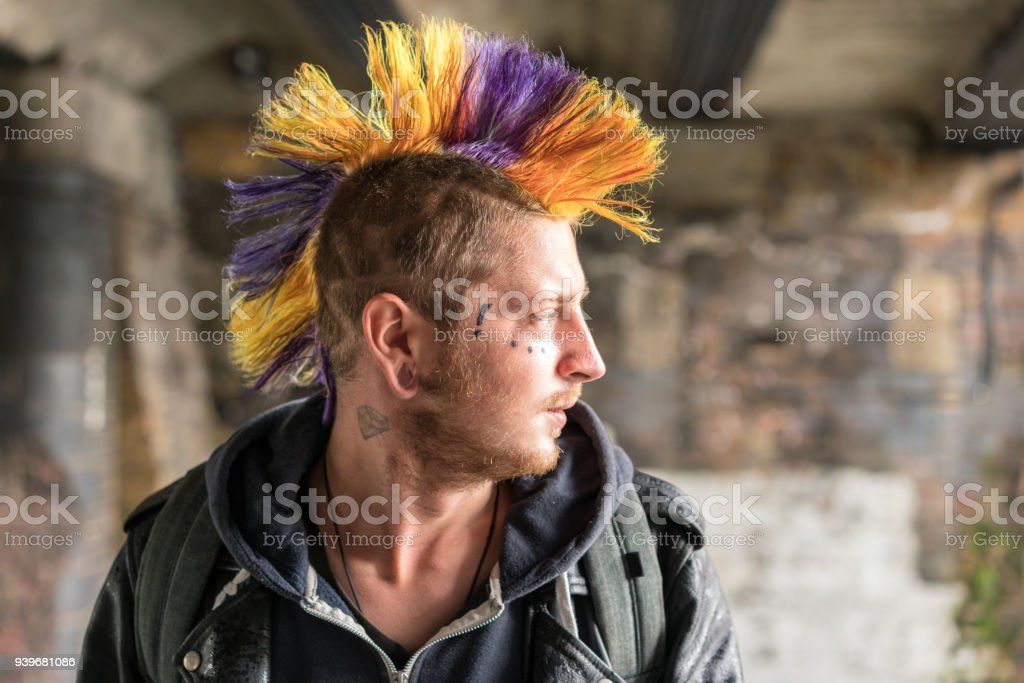 Punk portrait stock photo