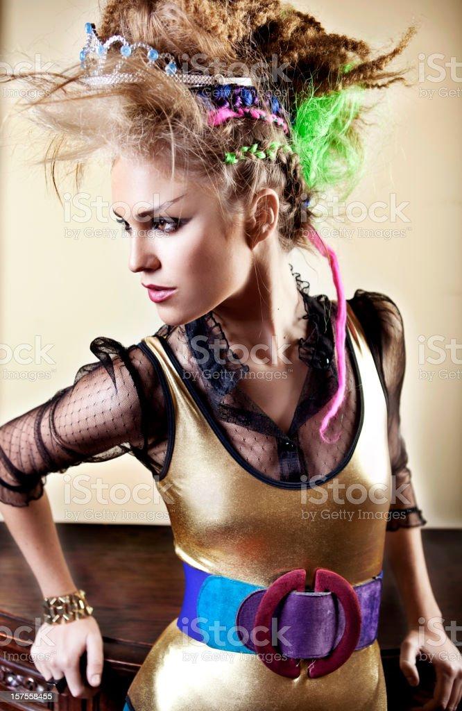 Punk princess stock photo