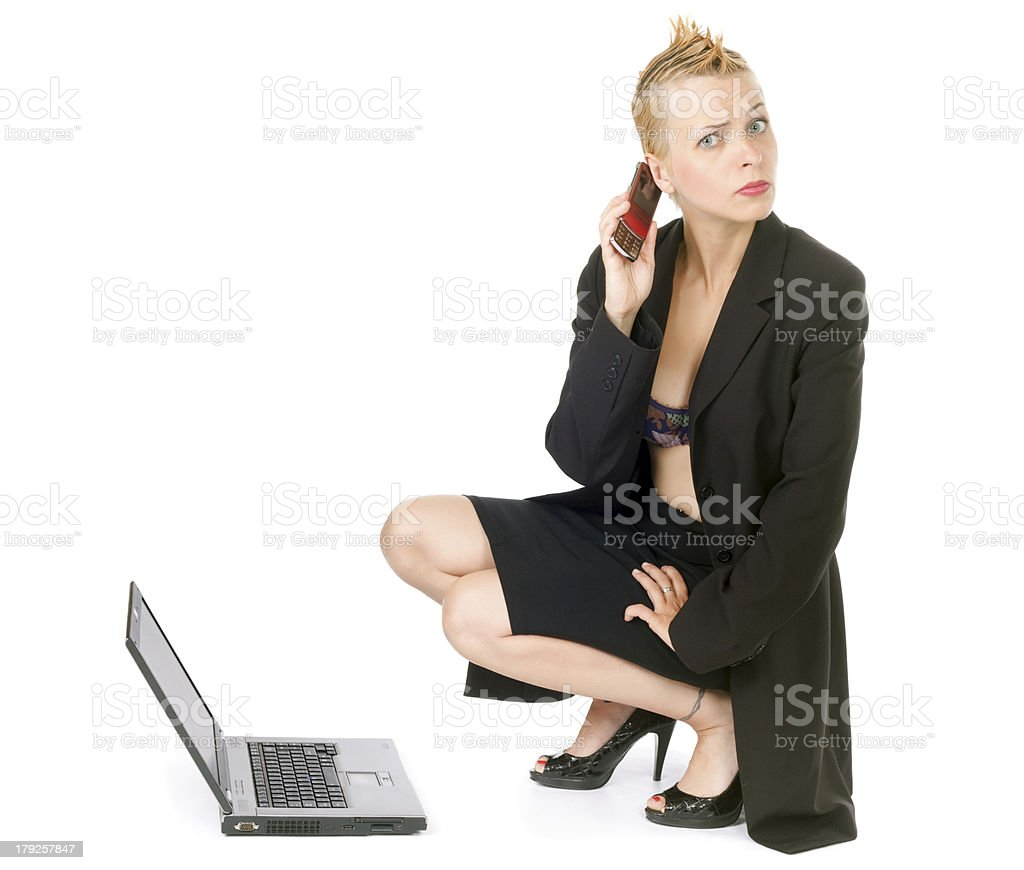 punk rock business woman royalty-free stock photo