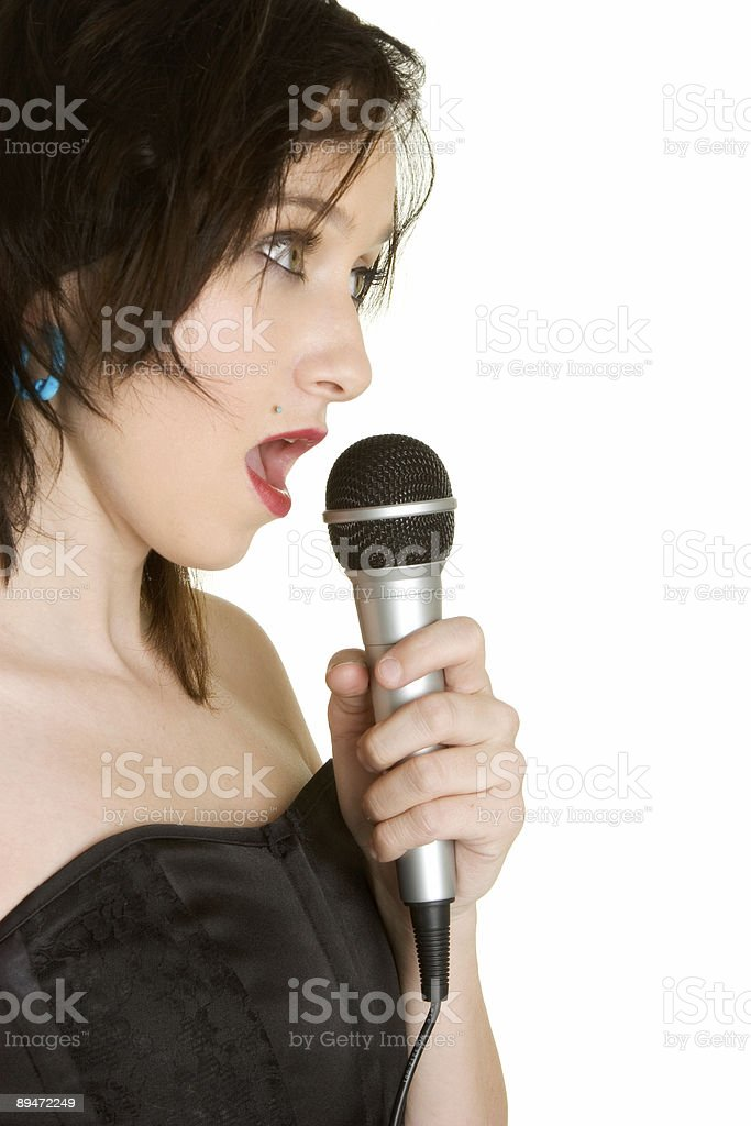 Punk rock singer royalty free stockfoto