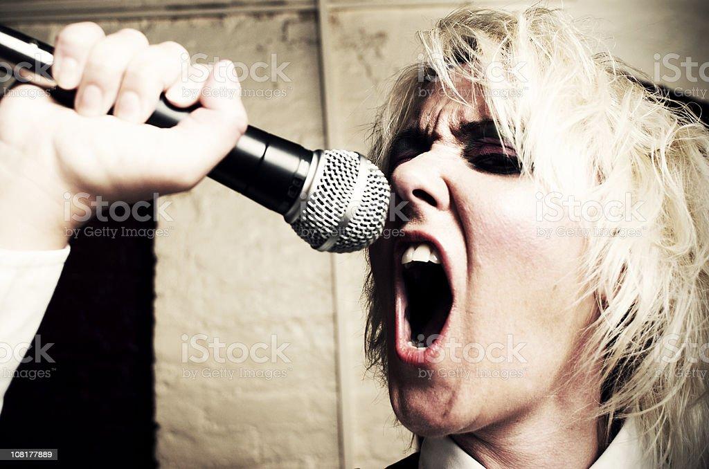 Punk singer. royalty-free stock photo