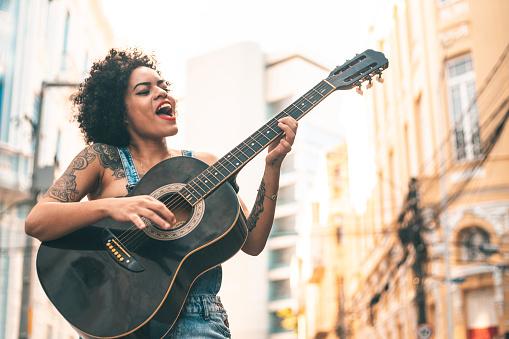 Punk, Music, City Street, Guitar, Artist