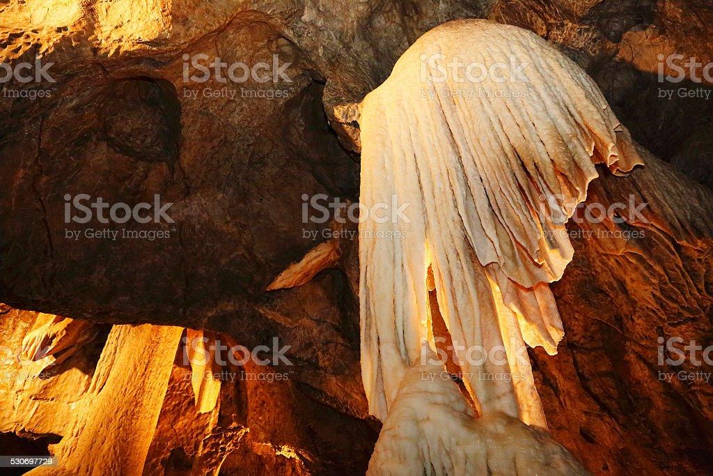 Punkva Cave in the Moravsky Kras, Moravian Karst stock photo