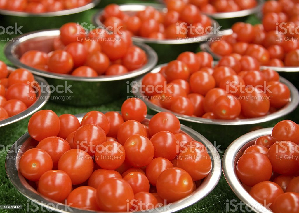 Punnets of Tomatoes royalty-free stock photo