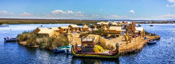 プーノ、ペルー - チチカカ湖 ストックフォトと画像